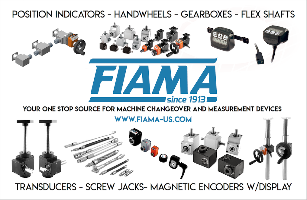 Fiama Position Indicators, Screw Jacks, Transducers, Handwheels, Flex Shafts, Clamping Plates and more