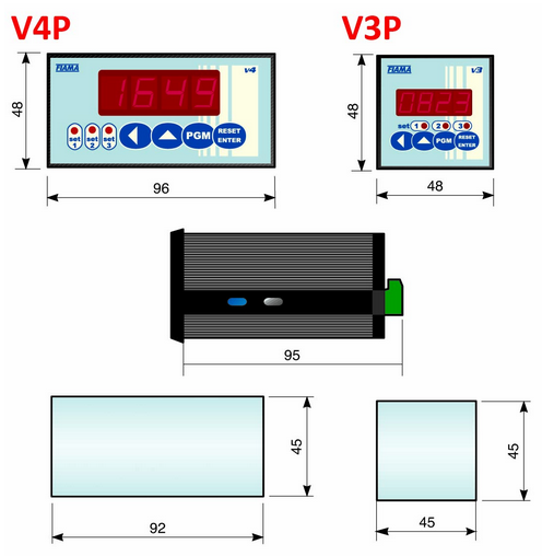 Displays Products V_P Dimensions FIAMA US
