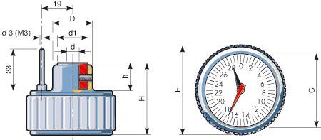 Handwheel And Indicator IP:IF Handwheel With Position Indicator dimensions FIAMA US