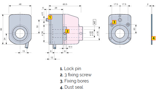 Rotary Encoders Transducers Product ENP6 Dimensions FIAMA US